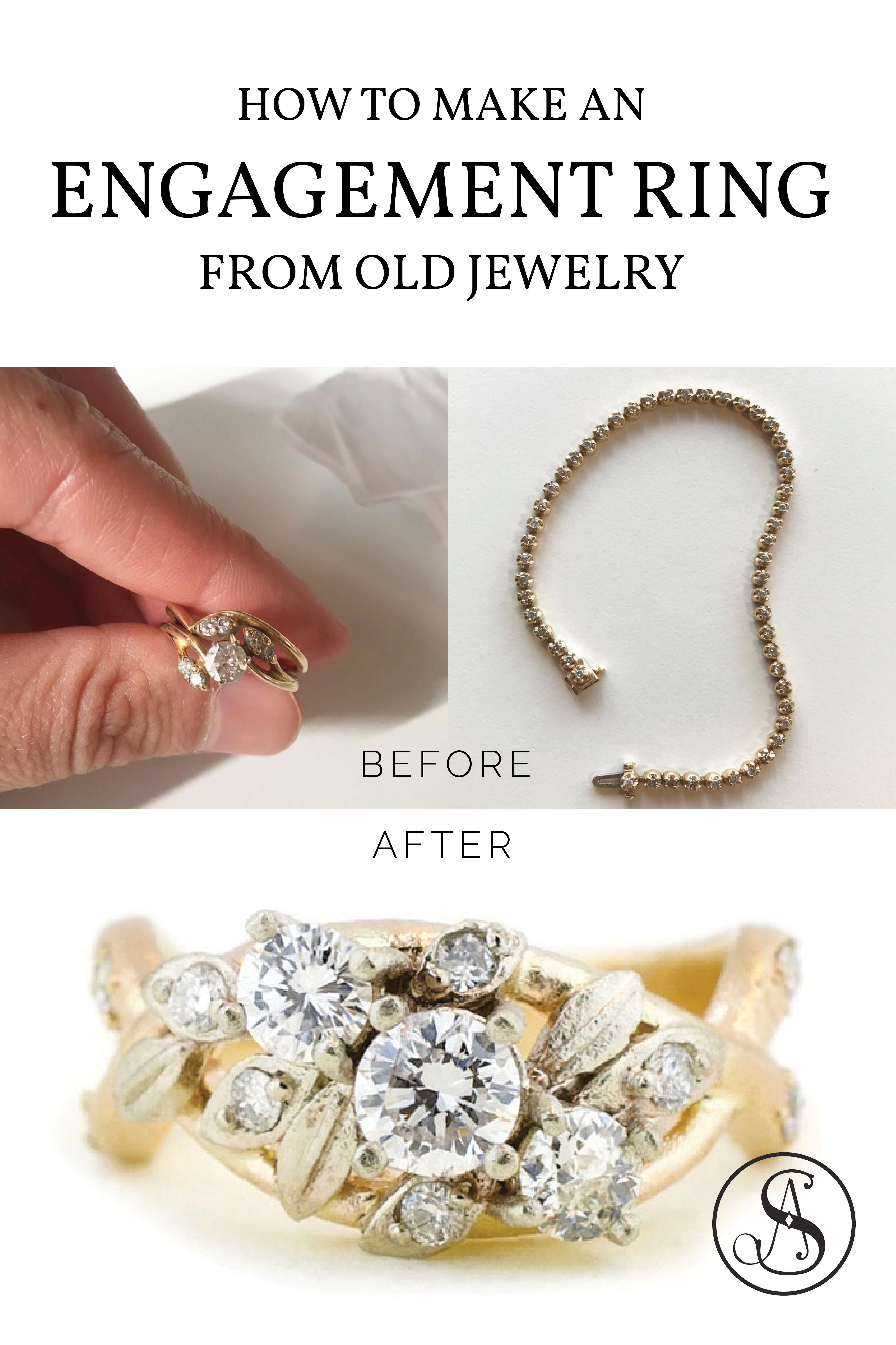 Creating New Jewelry From Old Jewelry Abby Sparks Jewelry Personalized Jewelry Mother Jewelry Custom Jewelry Design