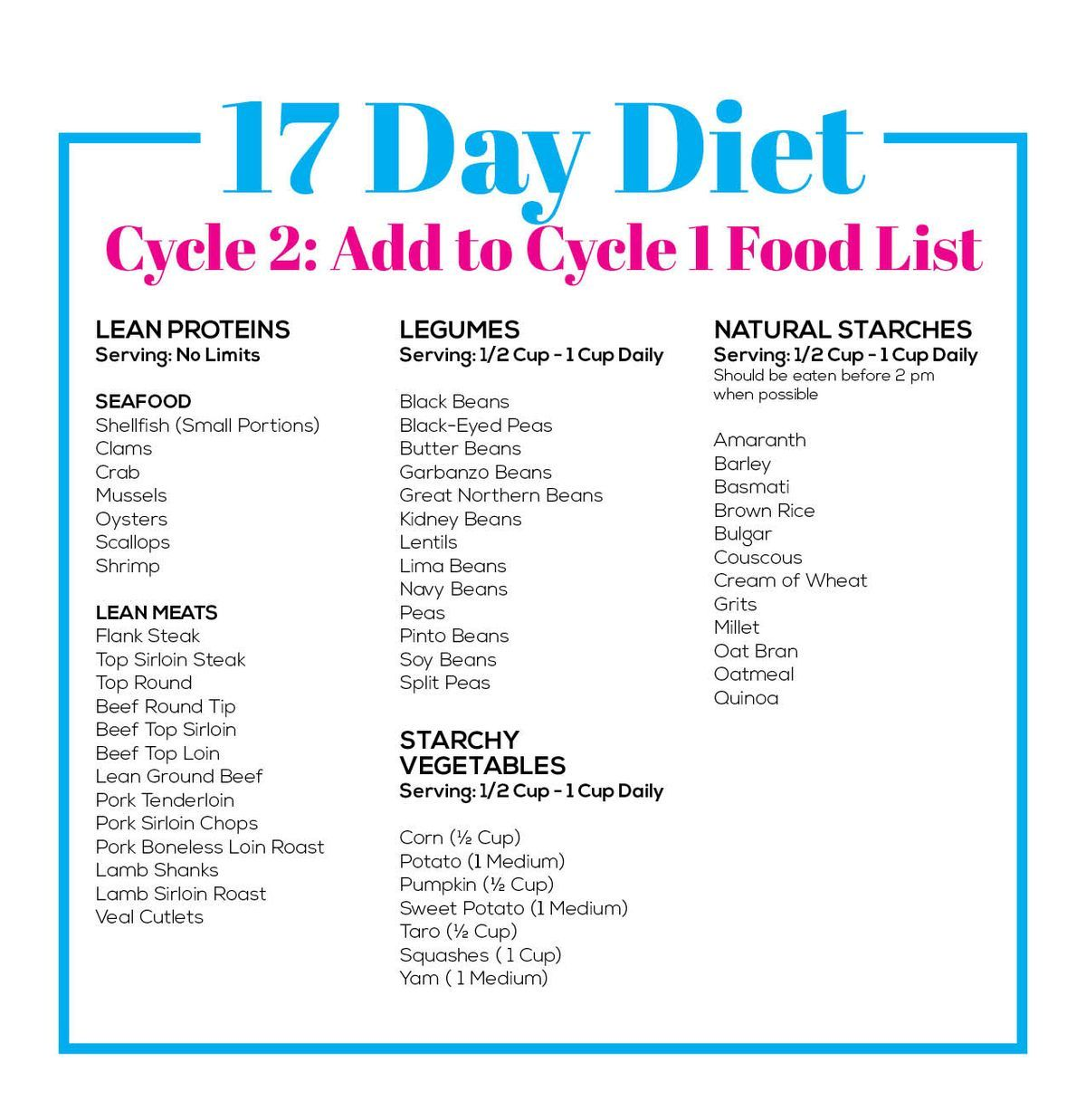 17 day diet recipes cycle 1 snacks