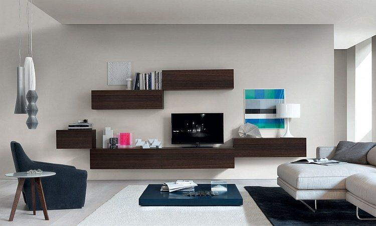 Meuble tv suspendu - 25 idées pour un intérieur élégant Living