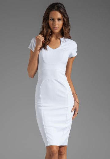 BLACK HALO Gypsy Rose Sheath Dress in White - New