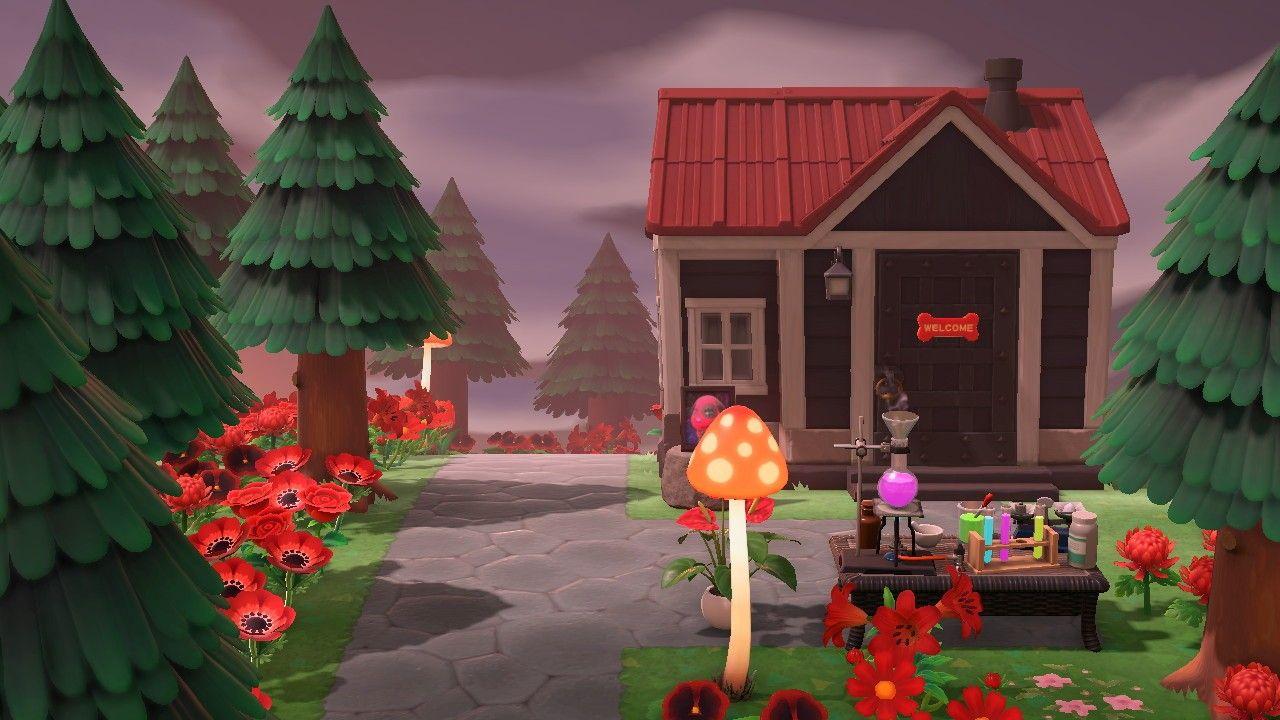 Acnh Cherry S House Animal Crossing Villagers Animal Crossing Mushroom Lamp
