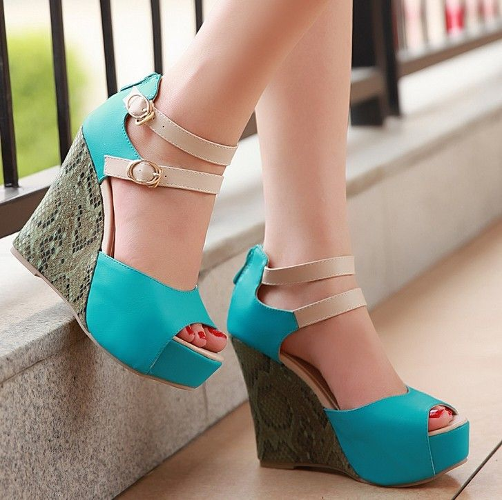 9154a7efde4d ENMAYER Free shipping NEW wedges sandals fashion snake women sexy summer  shoes casual size 34-39  68.46