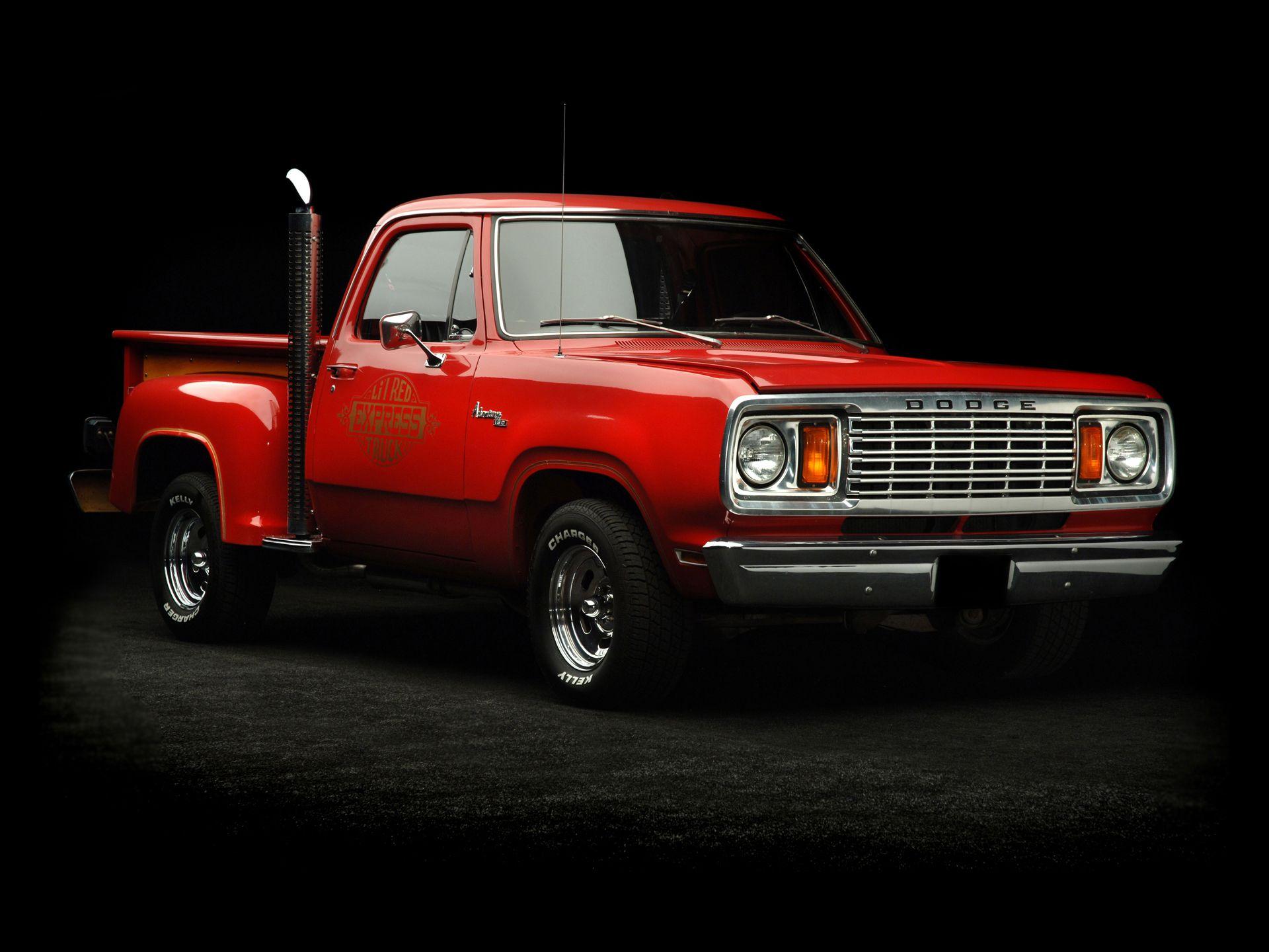 Dodge adventurer li l red express truck one really cool truck