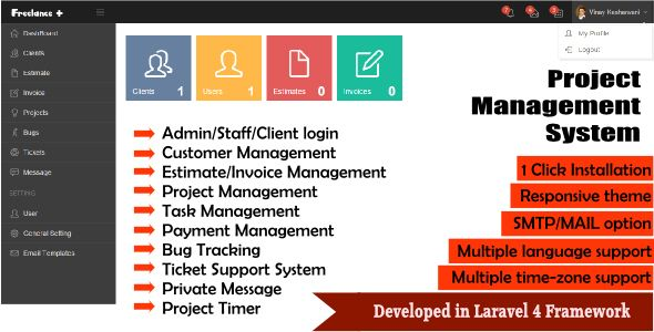 Freelance Plus Project Management System Dev Php