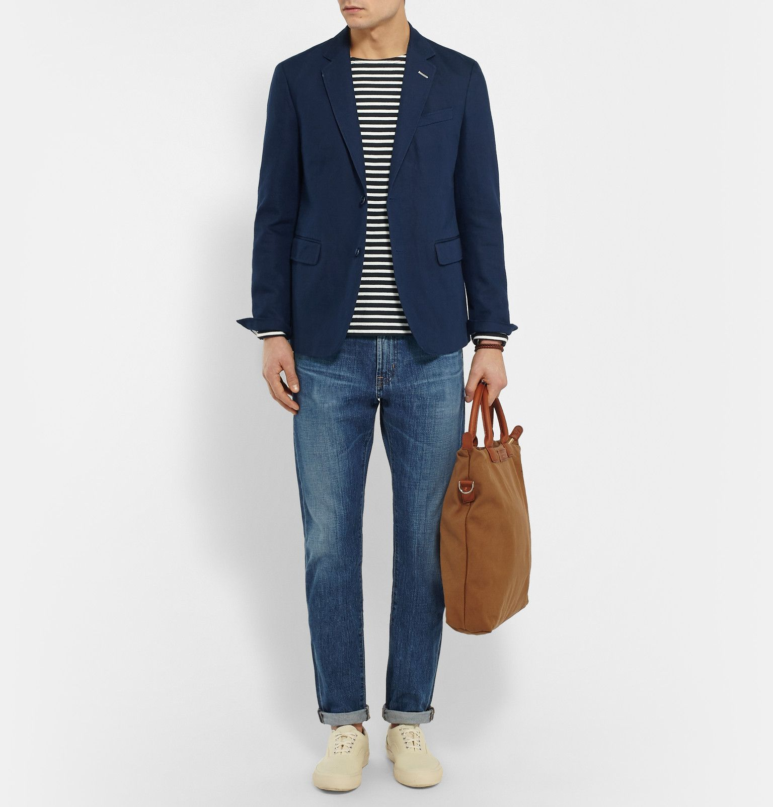 0b3da9da4 Gant Rugger - Navy Cotton and Linen-Blend Blazer | Cotton Linen ...