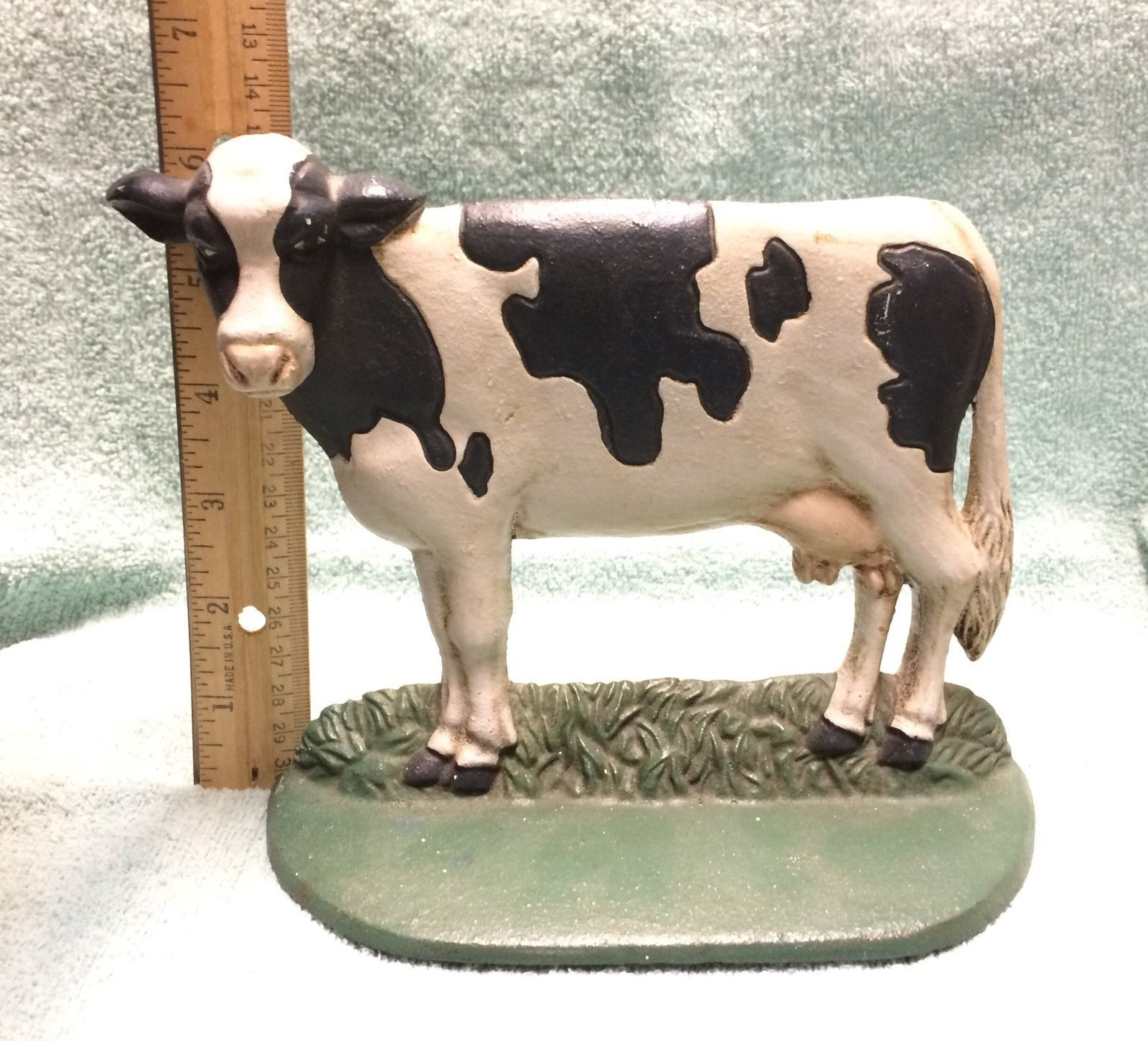 Cast iron door stoppers knockers nautical accents nautical decor - Cast Iron Painted Cow Doorstop Bookend By Midwest Importers Taiwan In Ebay
