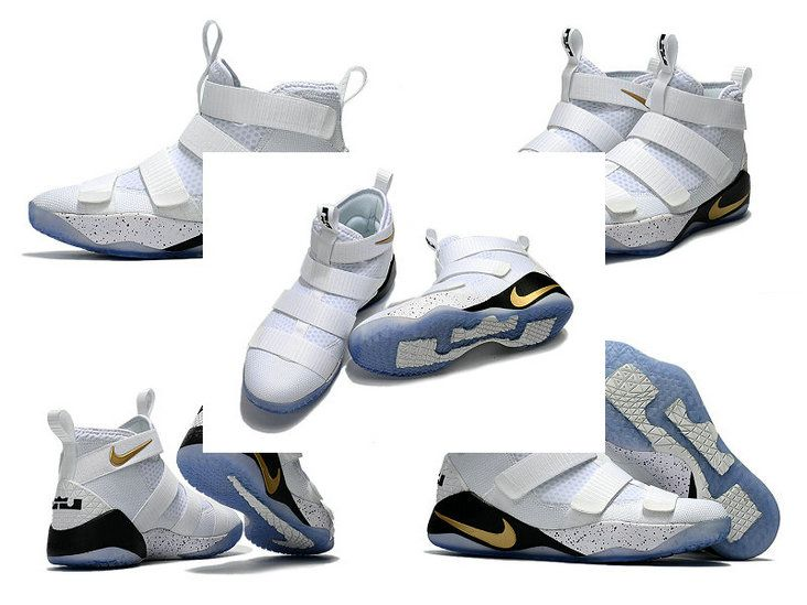 6e518308c623 27th May 2017 New Arrival Newest Lebrons Nike Lebron Soldier 11 XI White  Gold 2017 Lebron Playoffs