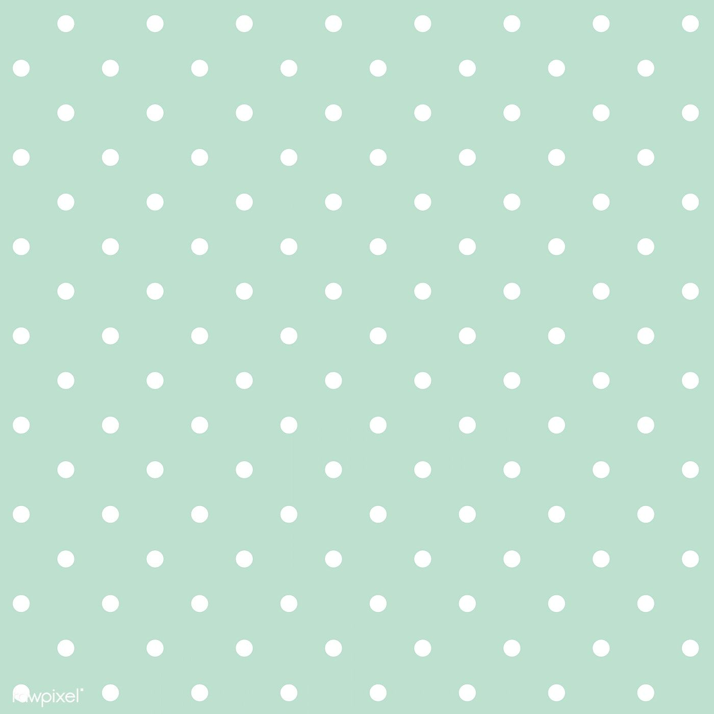 Mint Green And White Seamless Polka Dot Pattern Vector Free Image By Rawpixel Com Filmful Polka Dots Wallpaper Polka Dot Background Dot Pattern Vector