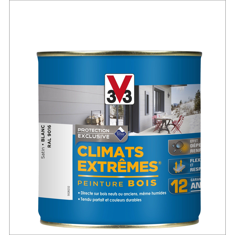 Peinture Bois Extérieur Climats Extrêmes V33 Satin Blanc