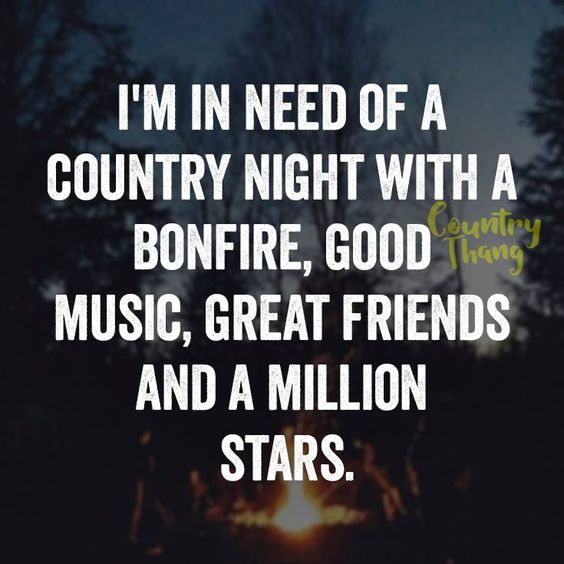 Im In Need Of A Country Night With A Bonfire Country Quotes