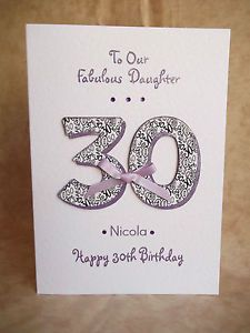 Handmade Personalised Birthday Card 18th 21st 30th 40th 50th Mum Sister Daughter