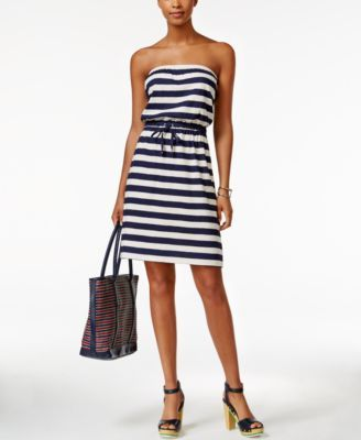 Tommy Hilfiger Striped Strapless Dress | macys.com | Clothes and ...