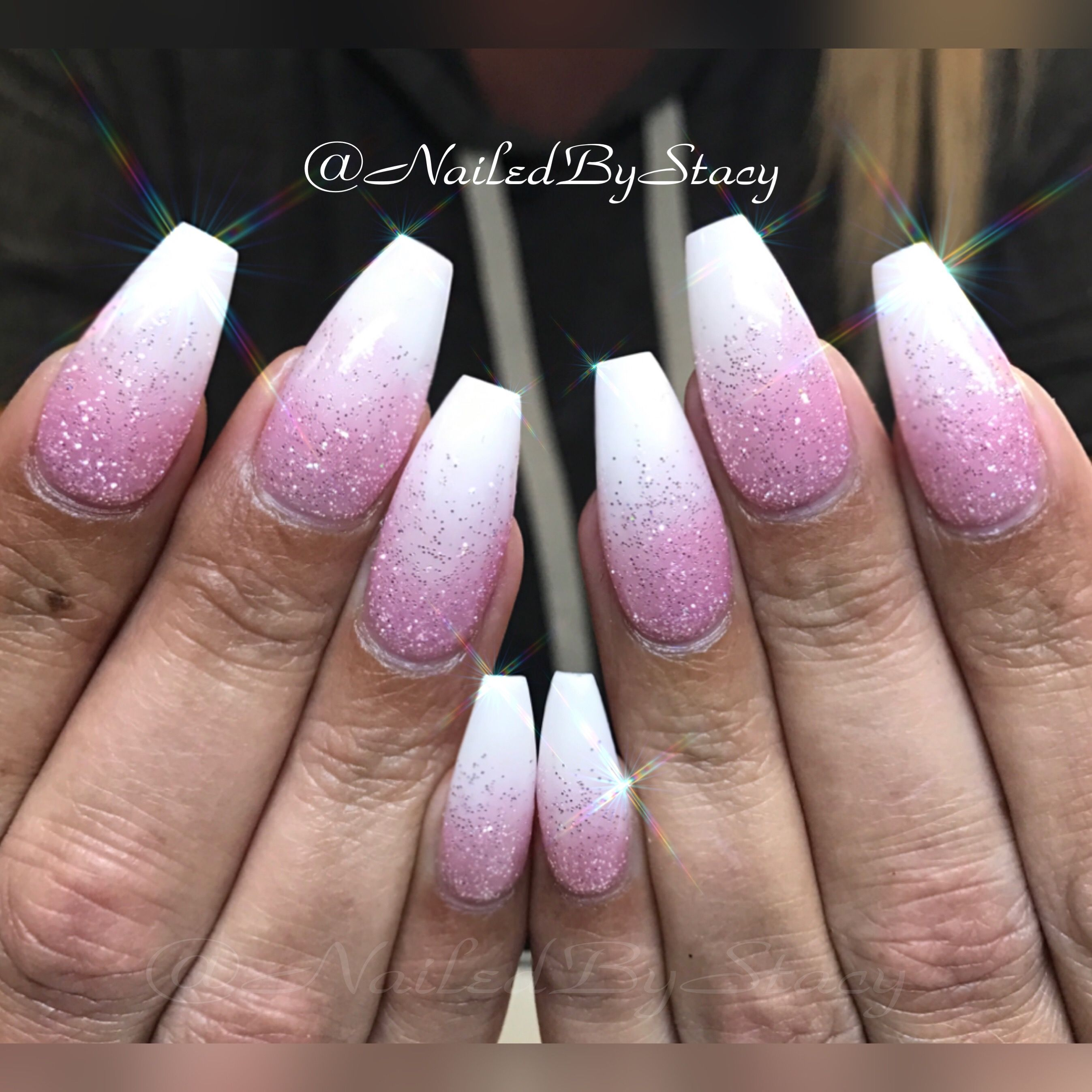 Ombré Baby Boomer Ballerina Nails | NAILED BY STACY | Pinterest