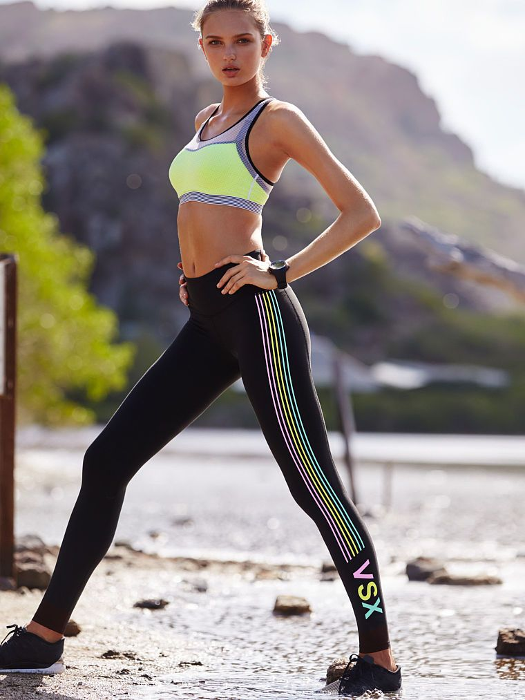 Workout on the water. This tight stays put and stays dry, on the sand and in the splash zone.   Knockout by Victoria's Secret Tight