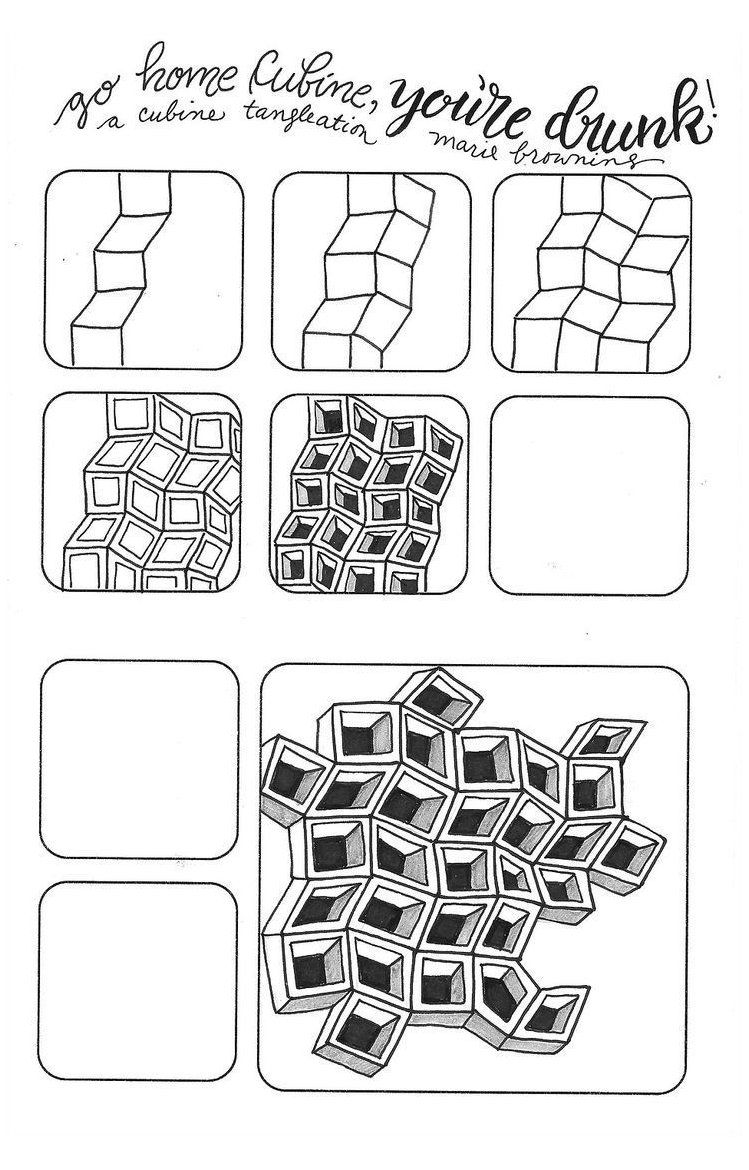 Simple Zentangle Patterns Step By Step How To Draw Drawing Ideas Easy Step By Step Zentangle Pa In 2020 Zentangle Patterns Zentangle Drawings Zentangle Artwork