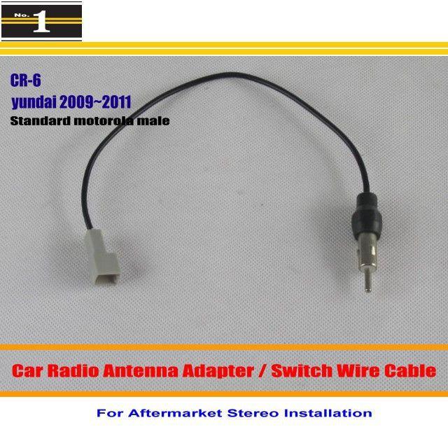 For Hyundai Accent Azera Elantra Equus Genesis Car Radio Antenna Adapter Aftermarket Stereo Antenna Wire Car Radio Antenna Radio Antenna Car Radio