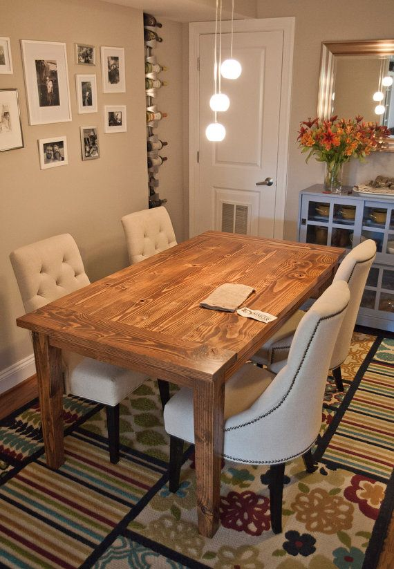 Farmhouse Table Tapered Legs Farmhouse Dining Table - 6 foot dining room table