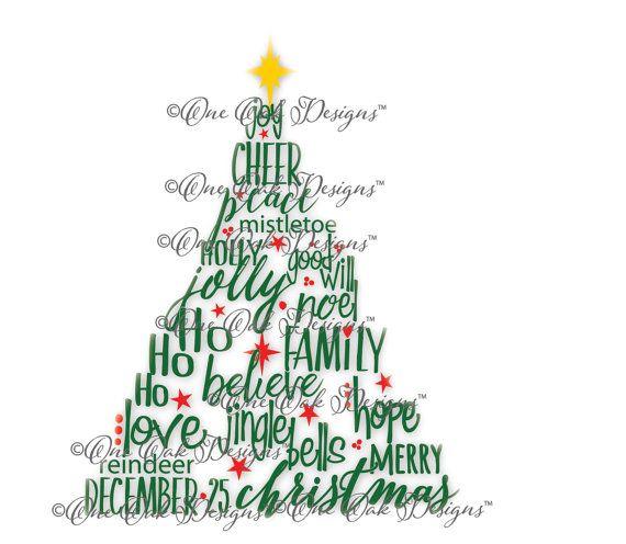 Christmas Tree Svg File Pdf Dxf Jpg Png Christmas Etsy Tree Svg Christmas Words How To Make Stencils