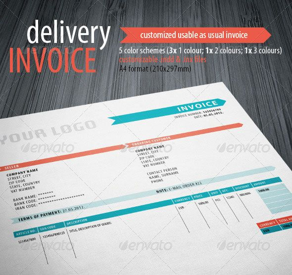 cute photoshop invoice template that i've used for freelance gigs, Invoice examples