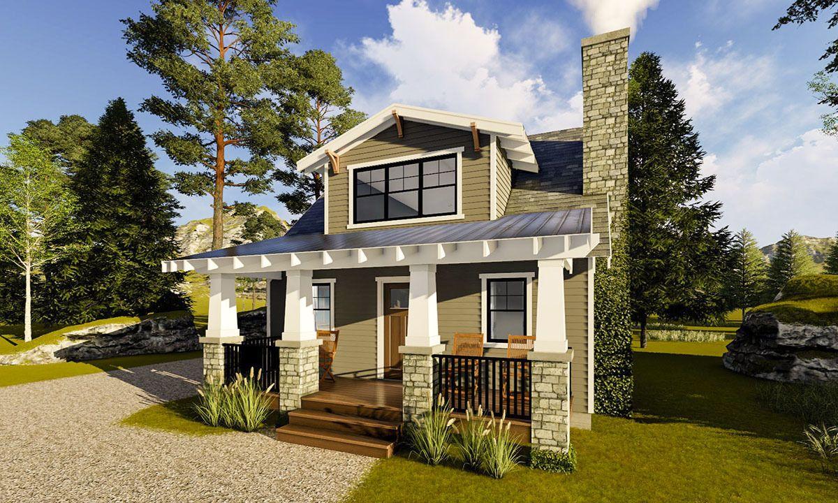 Plan 62674dj Petite Northwest Bungalow Bungalow House Plans Cottage House Plans Cottage Homes