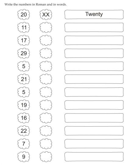 Download English Activity Worksheet Write The Numbers In Roman And In Words From Bestcoloringpages Com Letter Worksheets Number Worksheets Worksheets The number system worksheet