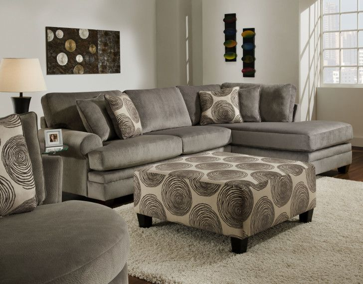 Interior. Gray Velvet Sectional Sleeper Sofa With Chaise Decor With Floral  Pattern Cushions. Delightful