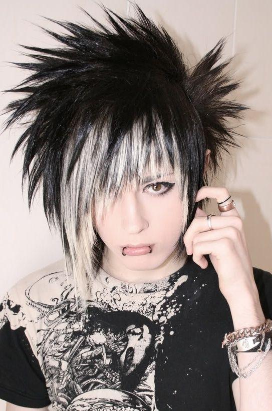 short choppy emo punk goth indie