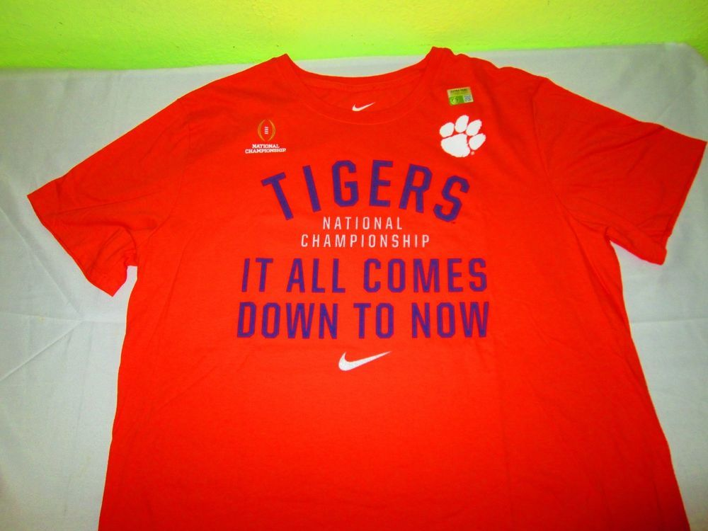 New CLEMSON TIGERS  NCAA T Shirt XL - Orange - NIKE - 2016 National Championship #Nike #ClemsonTigers