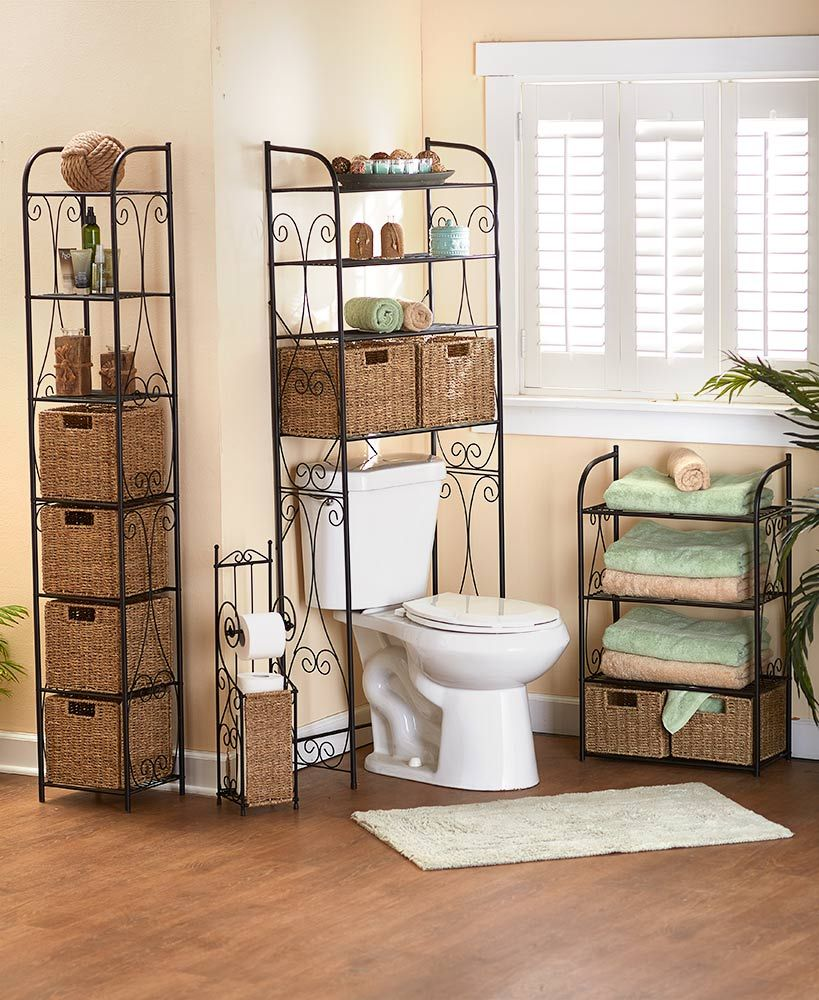Seagrass Basket Bath Storage Collection  Bathroom decor, Diy