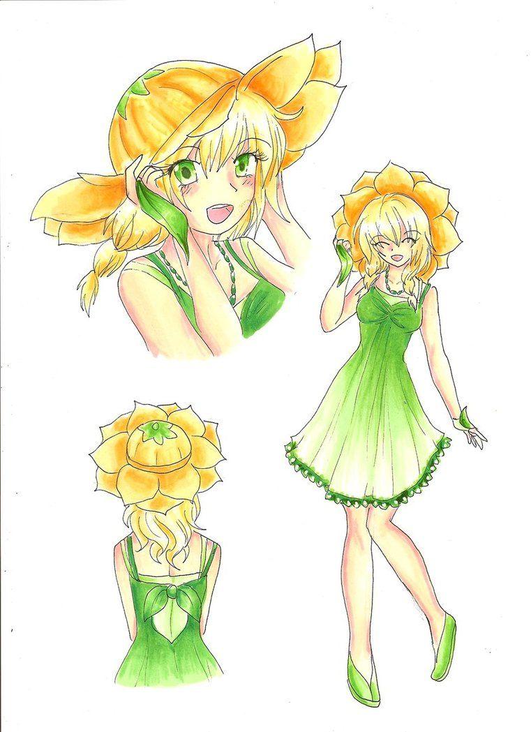 Human Version Gijinka Pokemon Sunflora Gijinka Pokemon Pokemon