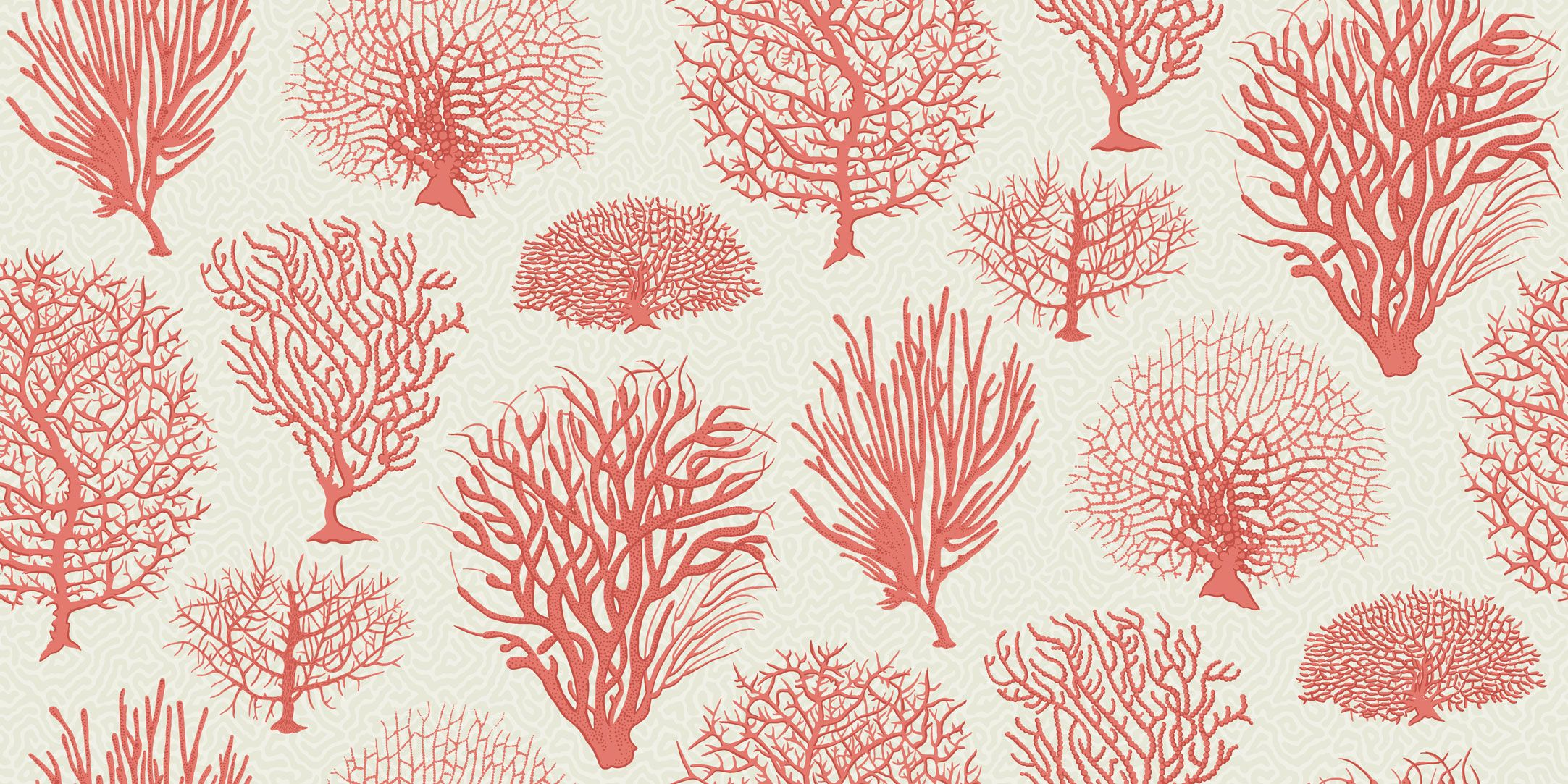 Seafern interiors pinterest wallpaper online designer staghorn and ivory tree are just some of the coral species represented in this classic wallpaper inspired by antique botanical prints from the late placed sisterspd
