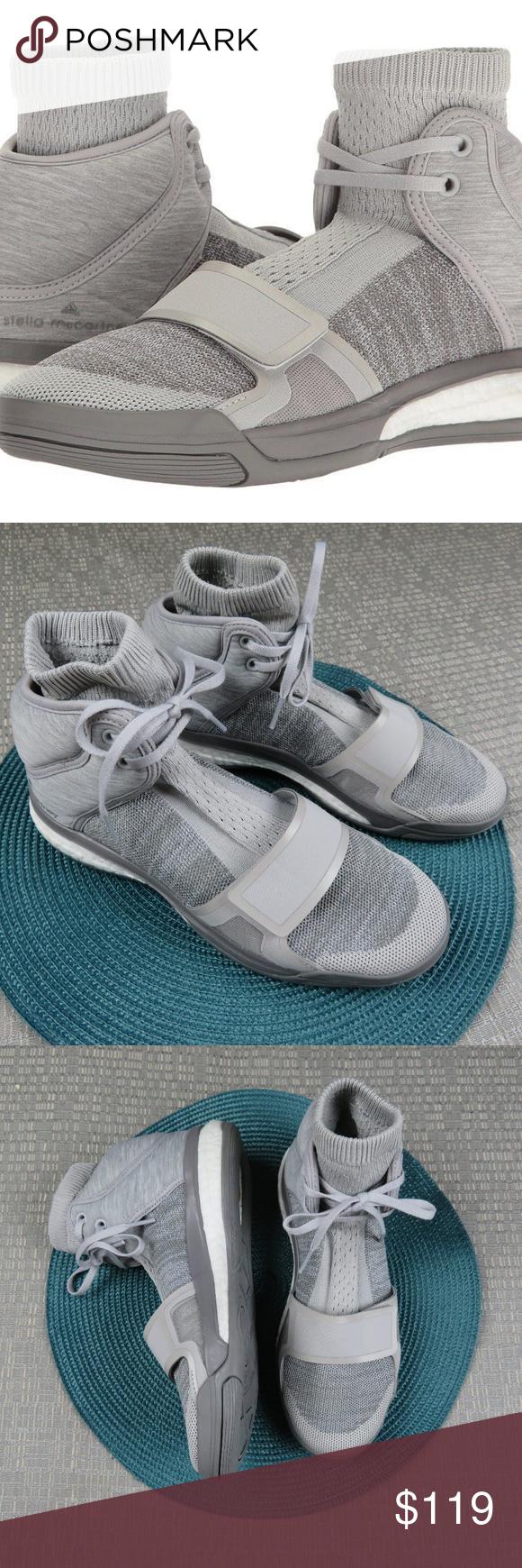 Adidas x stella mccartney gray impulso vibrazione scarpe nuove senza scatola