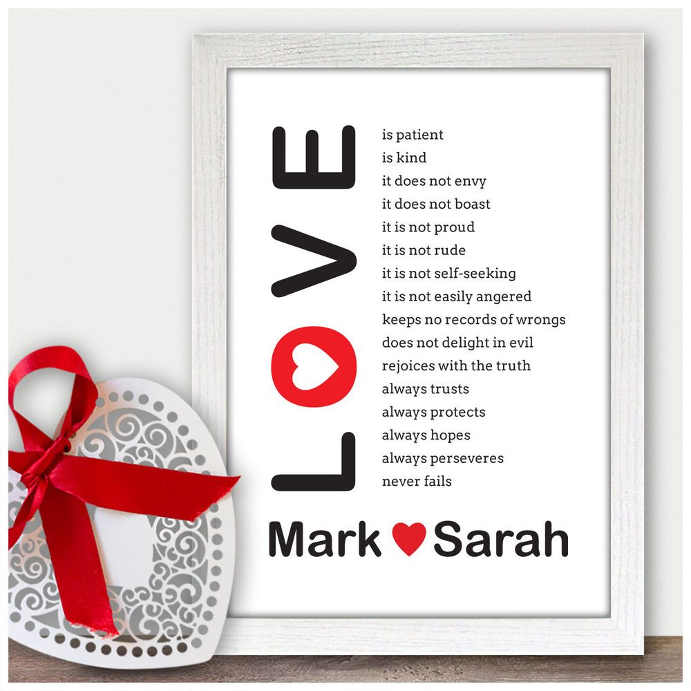 Personalised 1st Wedding Anniversary Gift Ideas For Him Her