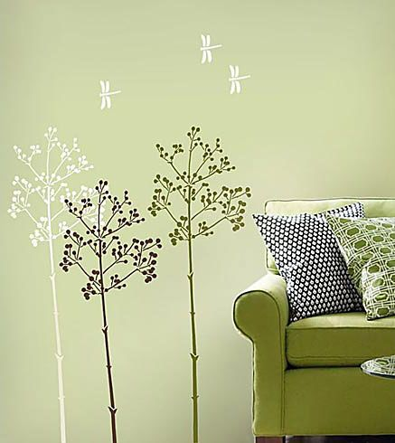 Cutting Edge Stencils - Going To Seed Wall Stencil | ideas for Emmas ...