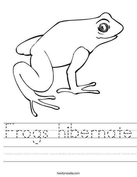 Frogs Hibernate Worksheet Twisty Noodle Frog Book Pinterest