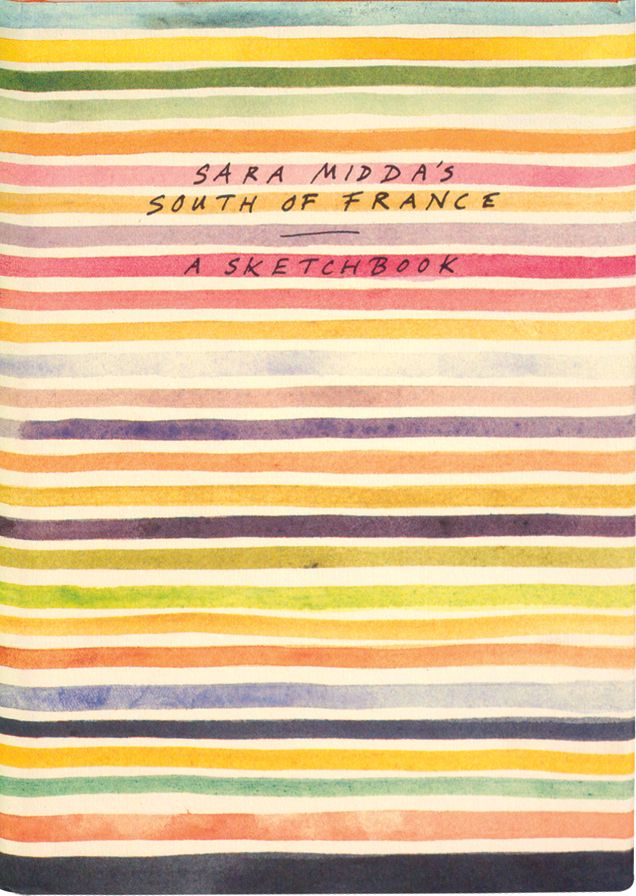 Watercolor stripes from Sara Midda's South of France Sketchbook (via viva full house http://vivafullhouse.blogspot.com/2011/04/beautiful-book-cover.html)