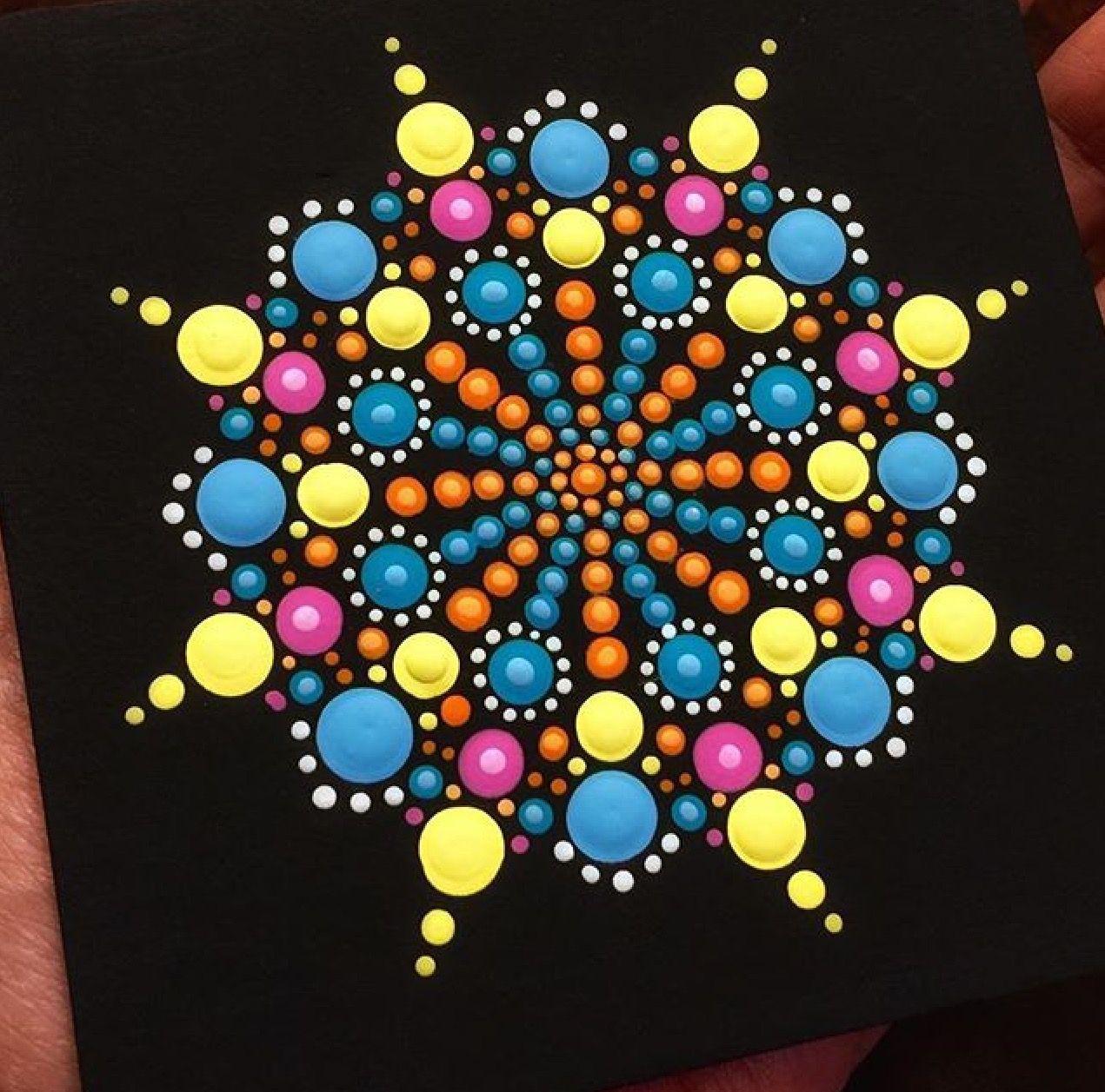 Dot Painting Rocks Rule Dot Art Painting Painting Mandala