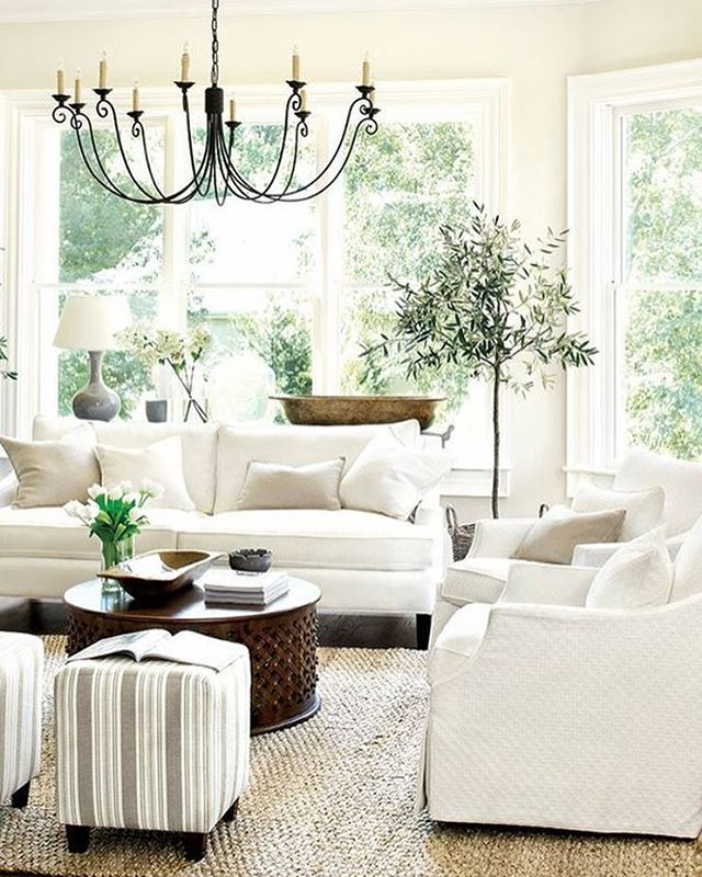This bright and fresh living room so