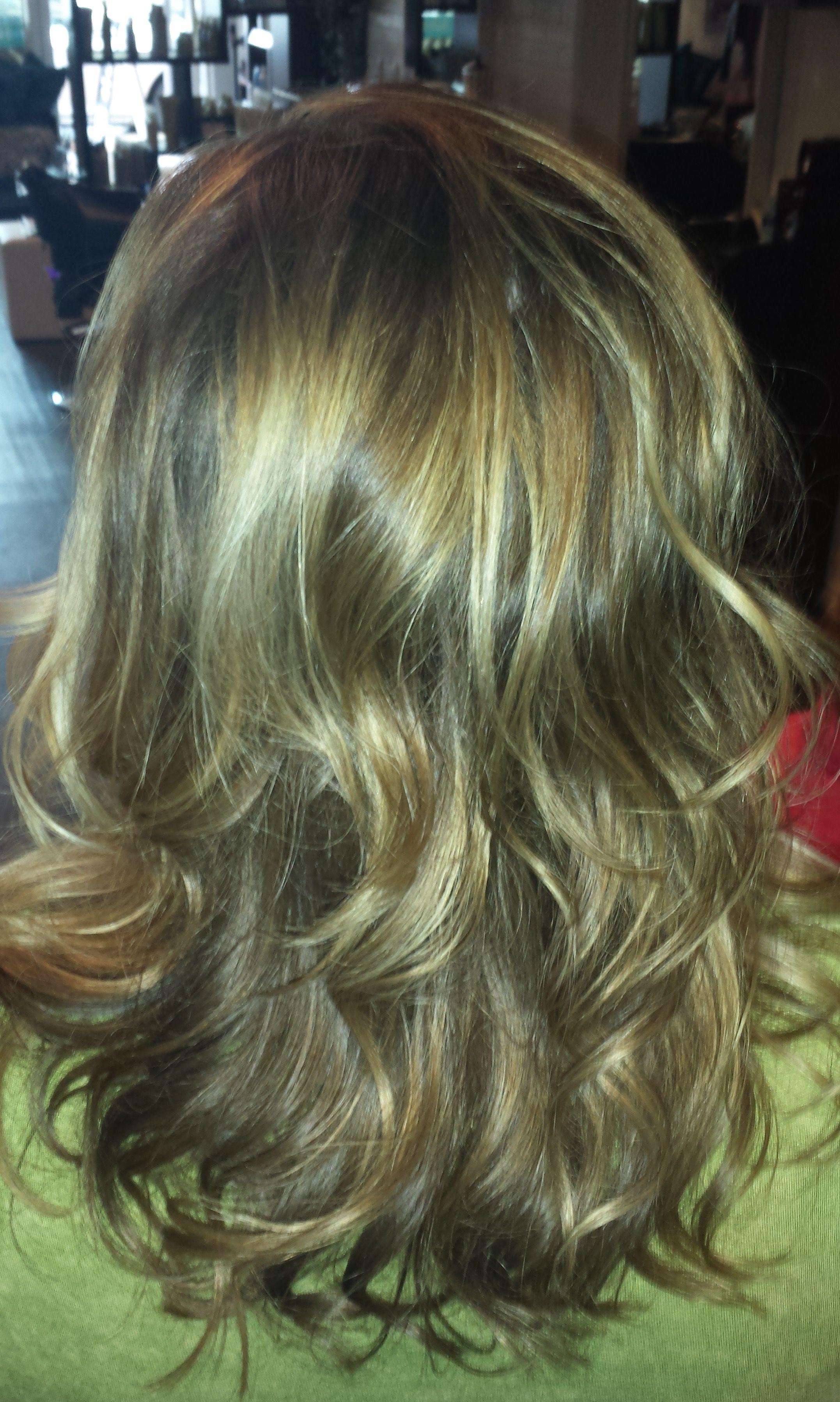 Caramel curls medium length kim trumbull hair lookbook pinterest