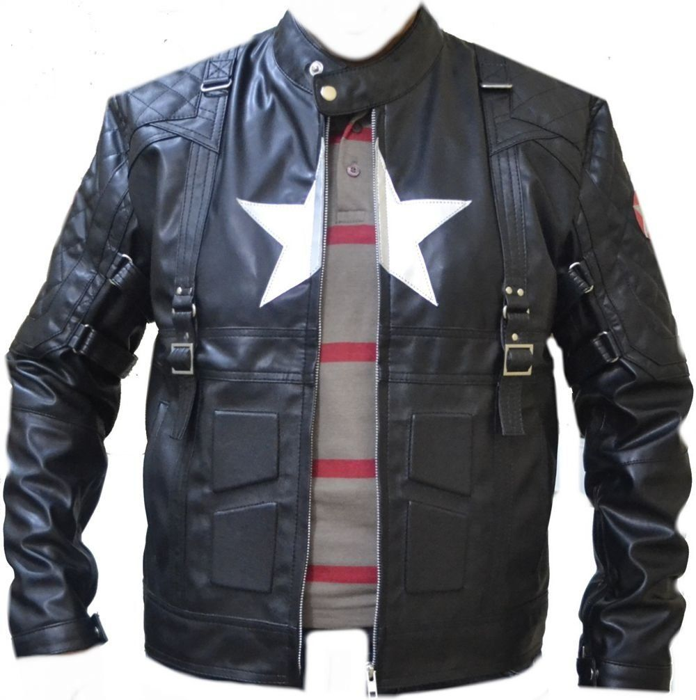 Celebrita Itally Men S American Captain Avenge 5 Black Biker Leather Jacket Cowa4 Cow Black Xs For Chest 34 36 Marvel Clothes Mens Outfits Jackets [ 1006 x 1000 Pixel ]