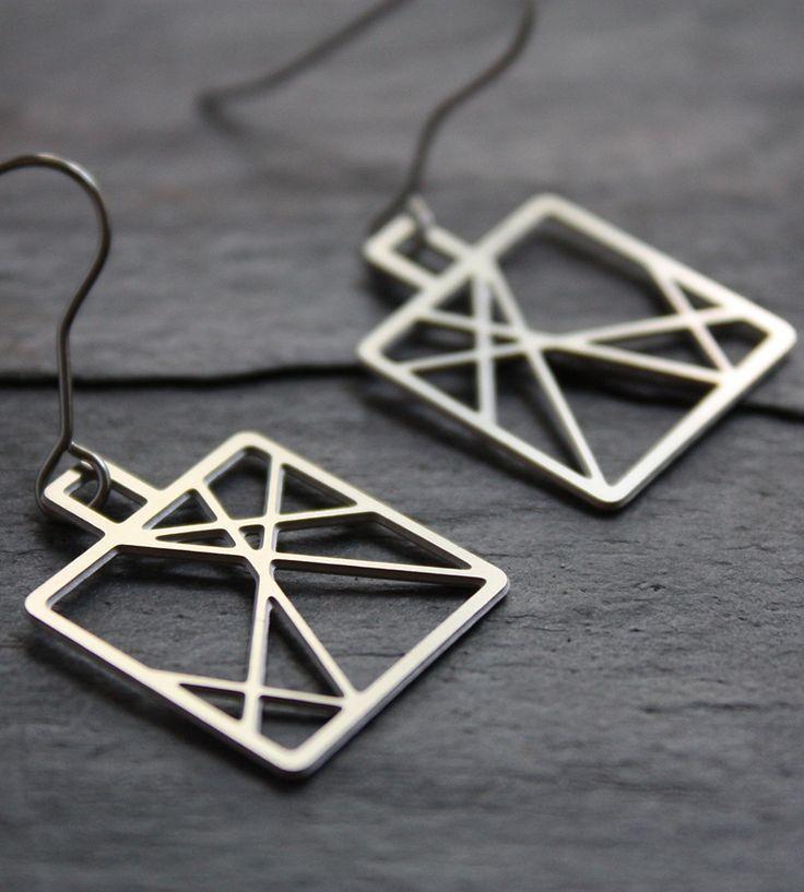 Steel Criss-Cross Earrings