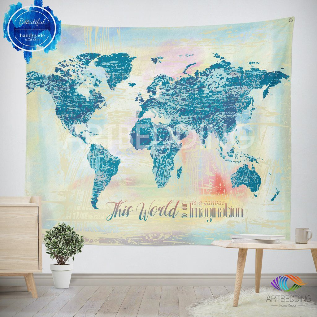 Watercolor world map wall tapestry grunge world map wall tapestry watercolor world map wall tapestry grunge world map wall tapestry hippie tapestry wall hanging gumiabroncs Image collections
