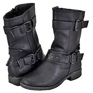 Italina- -Women's Bc1501 Black Riding Boots
