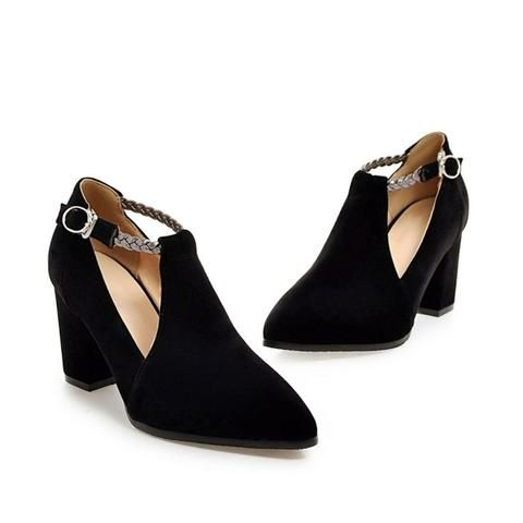 Women's Fashion Elegant Square High Heels Shoes - Black,Blue,Red  Fashion Classy High Heels Pumps Shoes Girls outfit 2017 awesome gift footwear unique wedding Products Shops For Her Wedding Links Websites For sale buy online store shop AuhaShop.com