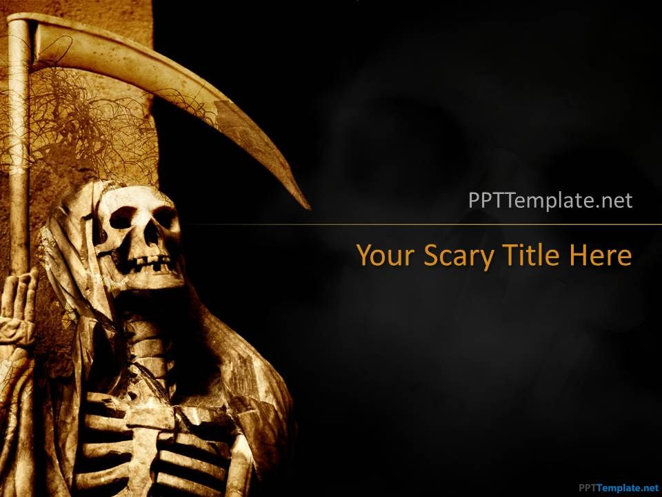 Free Skull Halloween PPT Template Halloween Ppt template, Free