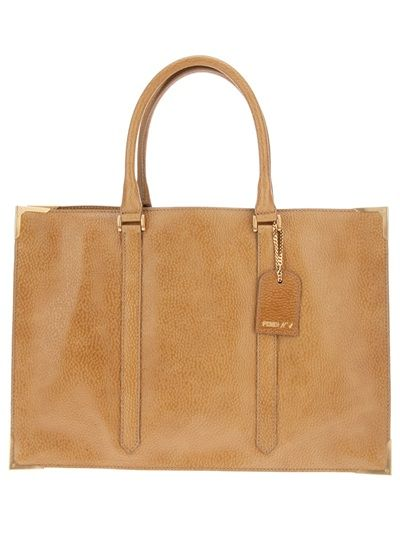 d85881fdcafc Big Bags · Fendi Antique Style Shopper - Davinci - farfetch.com Fendi Tote