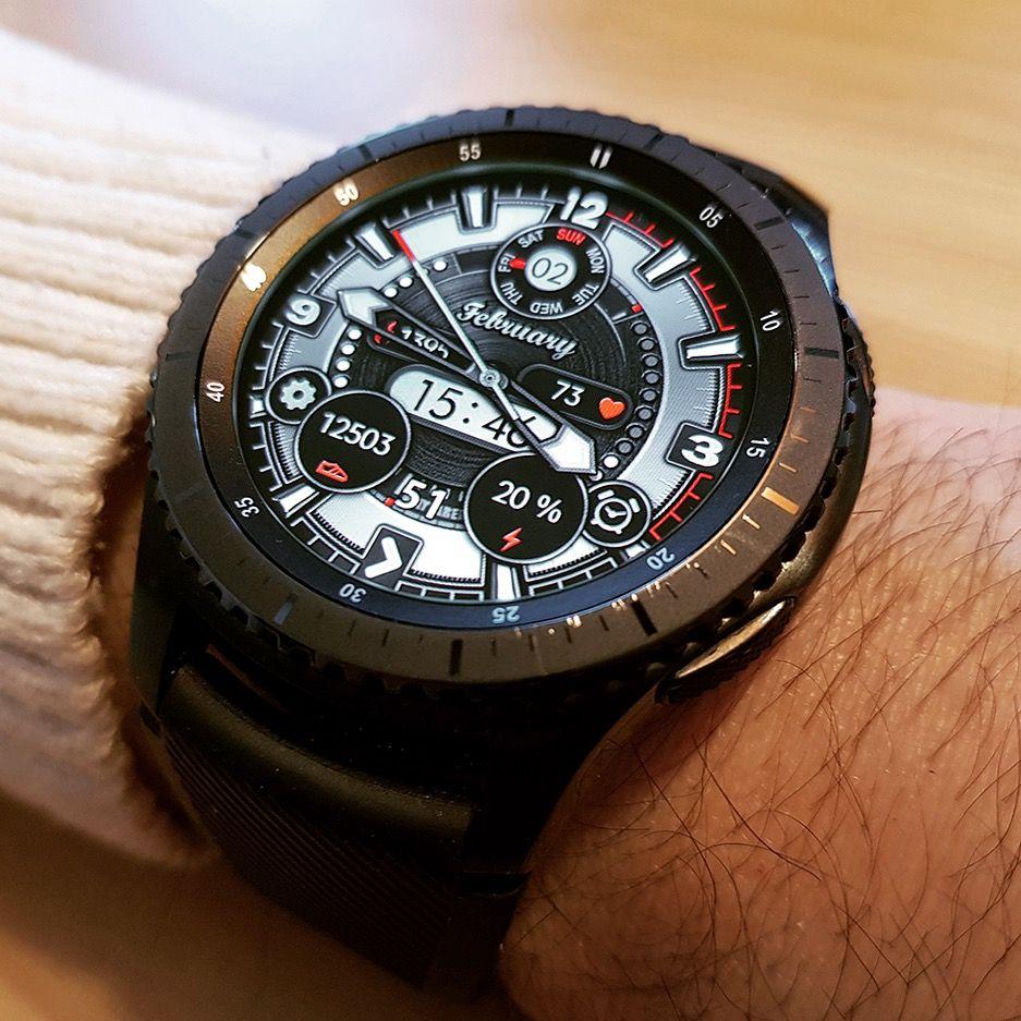 24/12 Wayfarer Watch Face for Samsung Gear S3, Gear Sport