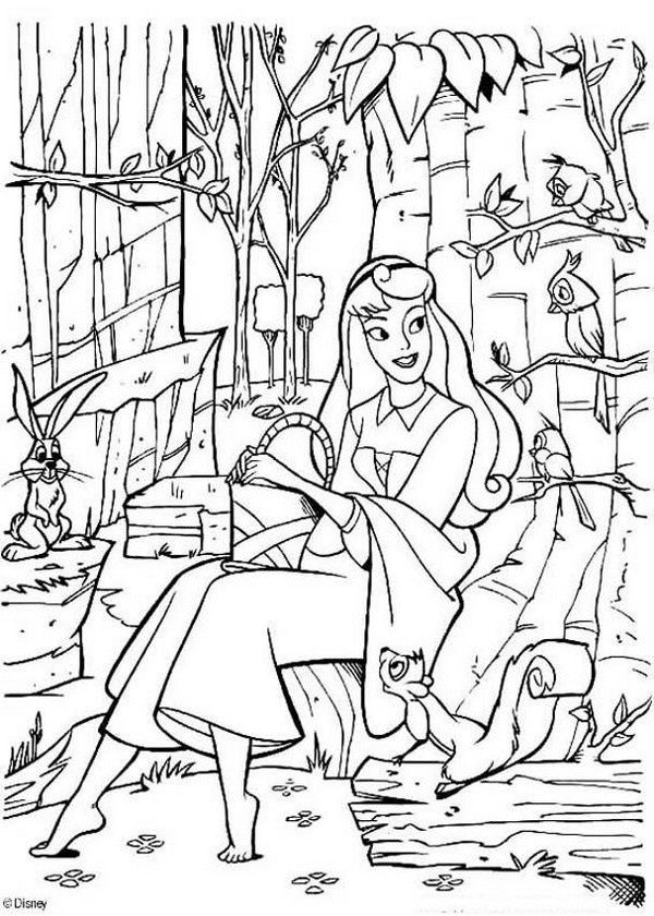 Princess coloring pages for kids printable disney crafts for adults - new disney princess coloring pages sleeping beauty