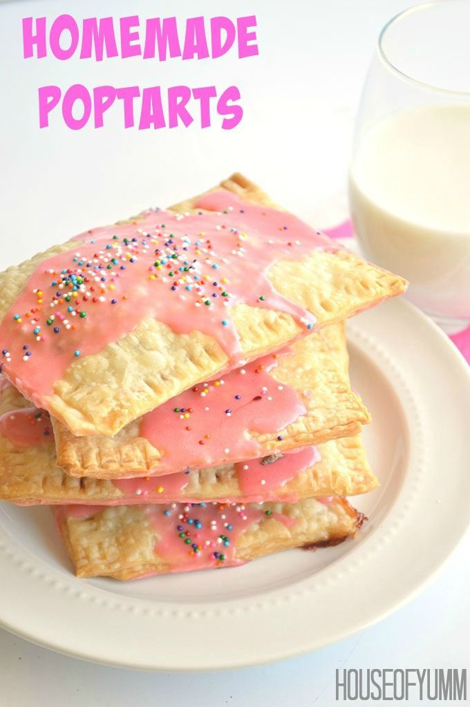 Homemade Strawberry Poptarts. Quick and easy breakfast that can be made the night before for the family!