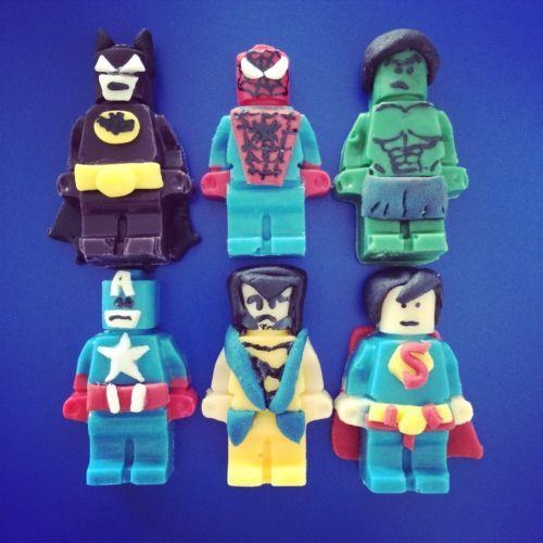 Superhero Lego Cake Toppers Marvel Dc Spiderman Batman